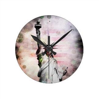 Relógio Redondo Estátua da liberdade