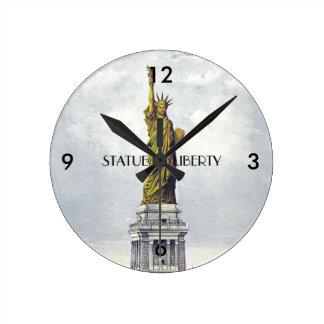Relógio Redondo Estátua da liberdade de ABH