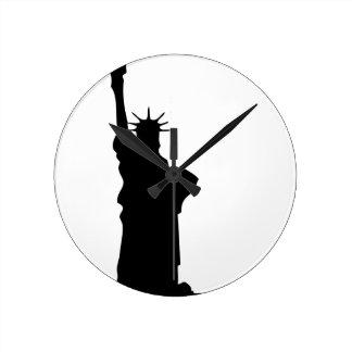 Relógio Redondo estátua-liberdade