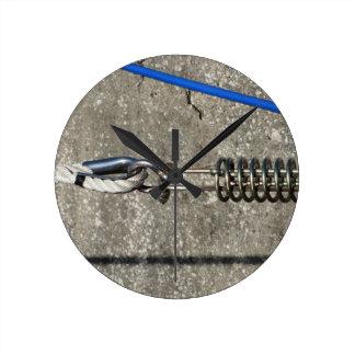 Relógio Redondo Estilingue da corda com o grilhão de âncora da
