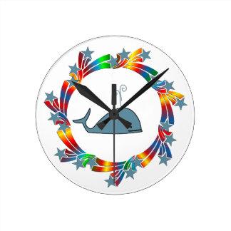 Relógio Redondo Estrelas da baleia