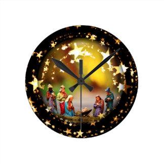 Relógio Redondo Estrelas infantis de Jesus da Virgem Maria da ucha