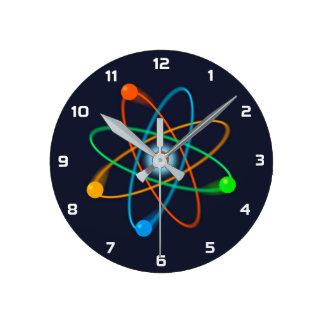 Relógio Redondo Estrutura atômica