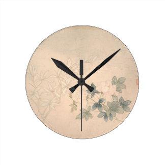 Relógio Redondo Estudo 2 da flor - YUN Bing (chinês)