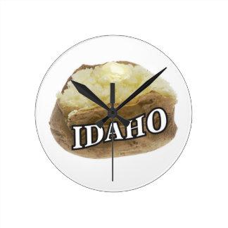 Relógio Redondo Etiqueta da batata de Idaho