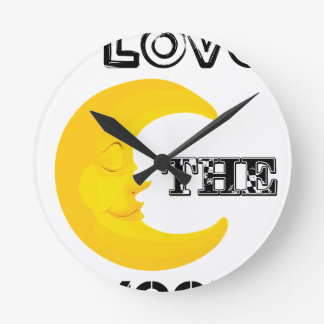 Relógio Redondo Eu amo a lua