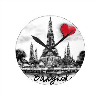 Relógio Redondo Eu amo Banguecoque