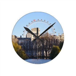 Relógio Redondo Eu amo Londres!
