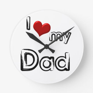 Relógio Redondo eu amo meu pai