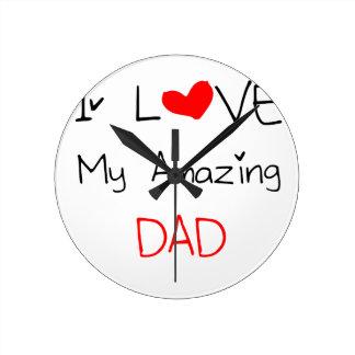Relógio Redondo Eu amo meu pai surpreendente