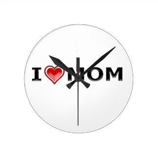 Relógio Redondo Eu amo minha mamã