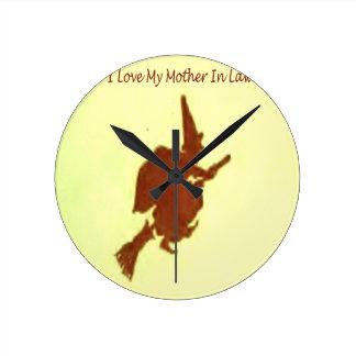 Relógio Redondo Eu amo minha sogra