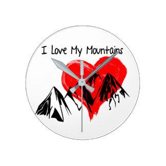 Relógio Redondo Eu amo minhas montanhas!