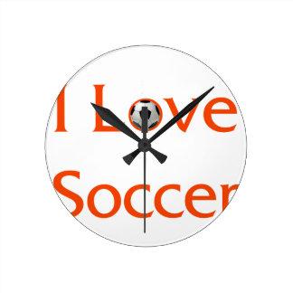 Relógio Redondo Eu amo o futebol