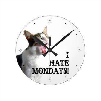 Relógio Redondo Eu deio segundas-feiras