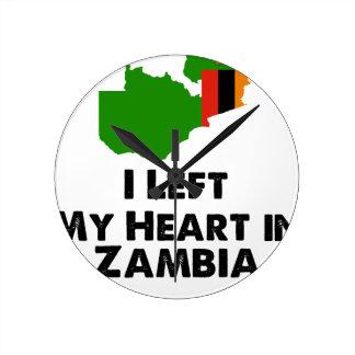 Relógio Redondo Eu deixei meu coração na Zâmbia