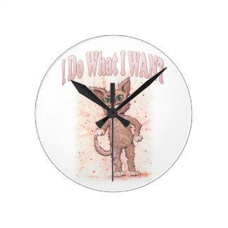 Relógio Redondo Eu faço o que EU QUERO