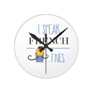 Relógio Redondo Eu falo o francês… Fritadas