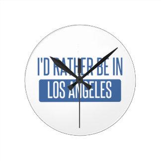 Relógio Redondo Eu preferencialmente estaria em Los Angeles