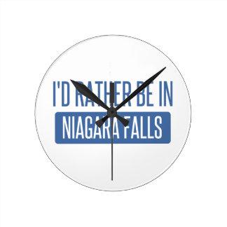 Relógio Redondo Eu preferencialmente estaria em Niagara Falls