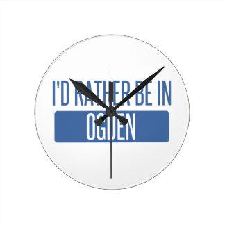 Relógio Redondo Eu preferencialmente estaria em Ogden