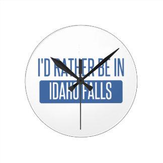 Relógio Redondo Eu preferencialmente estaria em quedas de Idaho
