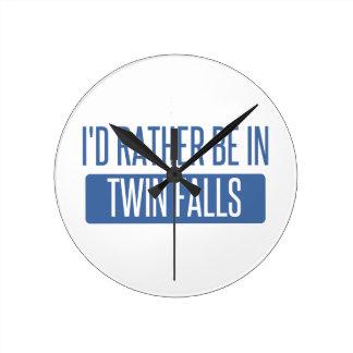 Relógio Redondo Eu preferencialmente estaria em quedas gêmeas