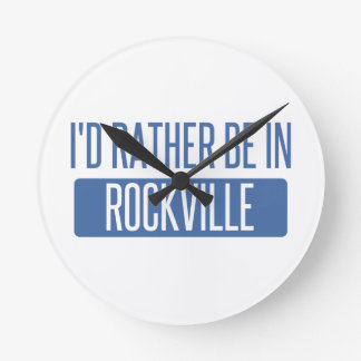 Relógio Redondo Eu preferencialmente estaria em Rockville