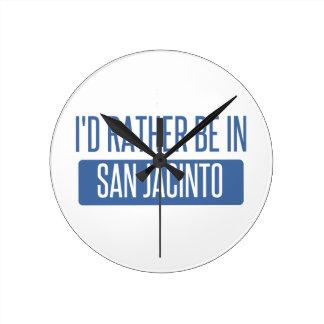 Relógio Redondo Eu preferencialmente estaria em San Jacinto
