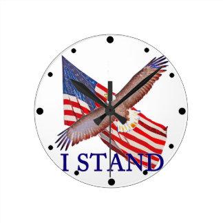 Relógio Redondo eu represento América