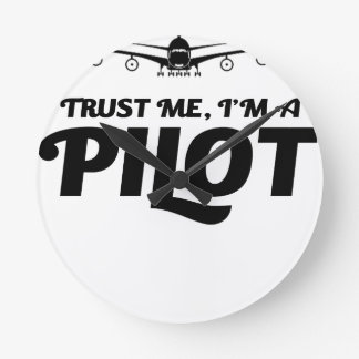 Relógio Redondo Eu sou um piloto