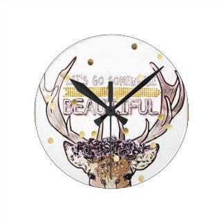 Relógio Redondo Explorador dos cervos