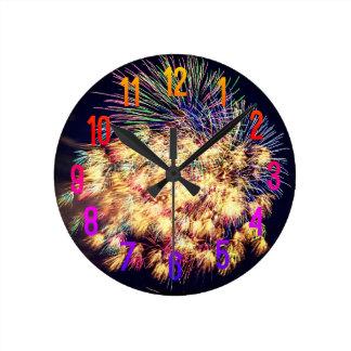 Relógio Redondo Exposição dos fogos-de-artifício
