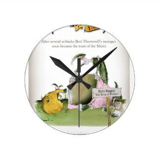 Relógio Redondo fabricante da salsicha de yorkshire do amor