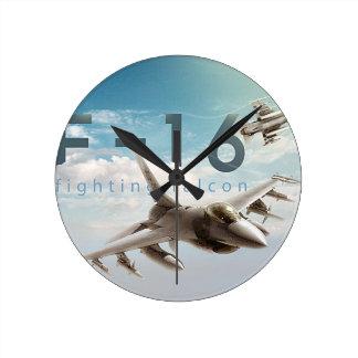 Relógio Redondo Falcão F-16 de combate