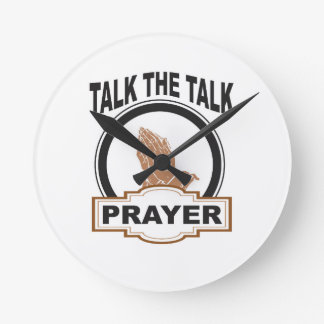 Relógio Redondo fale a oração da conversa yeah