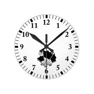 Relógio Redondo fãs Borboleta-dados forma (Ageha)