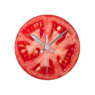 Relógio Redondo Fatia do tomate