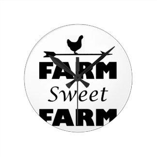 Relógio Redondo fazenda doce da fazenda