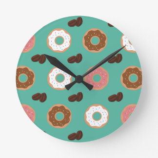 Relógio Redondo Feijões da rosquinha e de café
