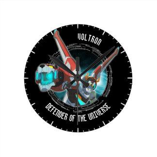Relógio Redondo Feixe vermelho do plasma do leão de Voltron  