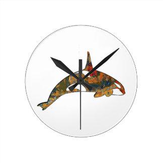 Relógio Redondo Felicidade da orca