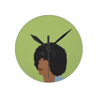 Relógio Redondo Feminista de Angela Davis