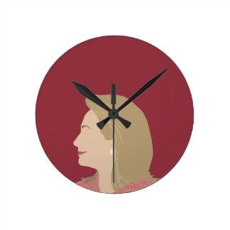 Relógio Redondo Feminista de Hillary Clinton