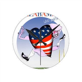 Relógio Redondo fernandes tony altos e orgulhosos de Alabama,