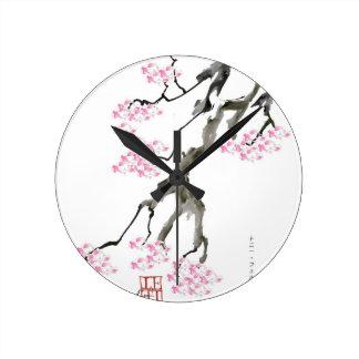 Relógio Redondo fernandes tony sakura com peixe dourado