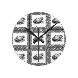 Relógio Redondo fileiras dos sapos