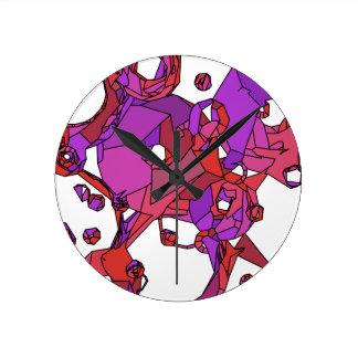 Relógio Redondo Filhóses cor-de-rosa