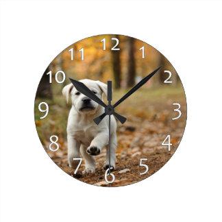 Relógio Redondo Filhote de cachorro de labrador retriever