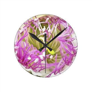 Relógio Redondo Flor da flor da alcaparra